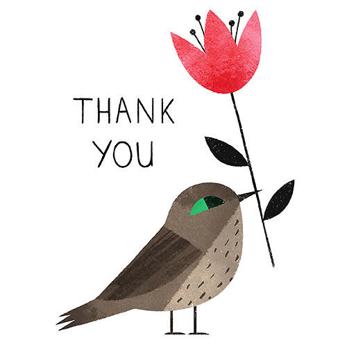 Thank You Ella Bailey Illustration